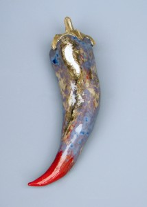 ceramic wallart capsicum