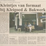 In de Krant.. in the newspaper