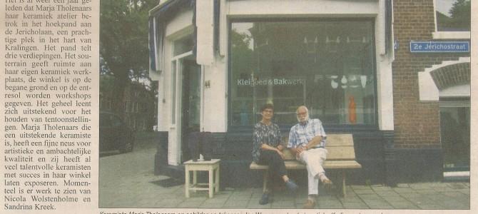 In de Krant.. in the newspaper
